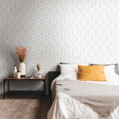 Diamond Shadow Sure Strip Wallpaper Stripped Wallpaper, Neutral Wallpaper, Unique Wallpaper, Contemporary Wallpaper, Black Wallpaper, Contemporary Bedroom, Wallpaper Roll, Geometric Diamond Wallpaper, Stunning Wallpapers