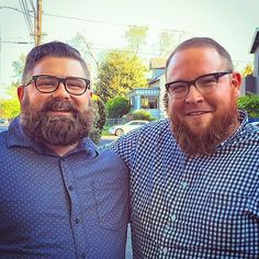 Bruce and Tyler from #Chubstr #biggents #beardsofig #PDX