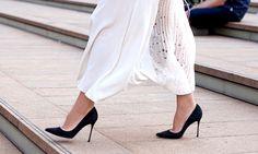 Escarpins no street style: modelos que ganharam as ruas de Nova York e Londres - Moda - MdeMulher - Ed. Abril