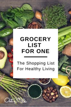 Whether you've just moved out for the first time, found yourself a recently single man or single woman, or you're a college student, food preparation and basic grocery list shopping can be a challenge. Here is a healthy grocery list you can download from our shopping list app!