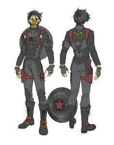 """hello-shellhead: """" Winter Soldier Tony suit design for the collab between and me! Marvel Comics Art, Marvel Heroes, Marvel Characters, Anime Characters, Superhero Suits, Superhero Design, Solgaleo Pokemon, Character Concept, Character Art"""