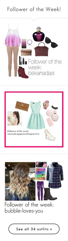 """Follower of the Week!"" by benjiedaisy on Polyvore featuring Miss Selfridge, Kate Spade, WithChic, Christian Dior, Urban Decay, Chanel, Smashbox, Givenchy, 3.1 Phillip Lim and rag & bone"