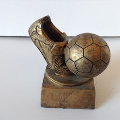 Soccer Ball Shoe Resin Trophy Award Prize