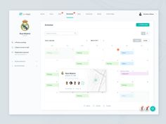 by Adam Balazy Dashboard Interface, Web Dashboard, Dashboard Design, Ui Ux Design, Calendar Ui, Team Schedule, Dashboards, Mobile Design, User Experience