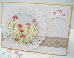 Thank You Card, Stamp Set - Wild About Flowers, Petite Pairs, Stampin' Up!