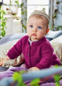Girl's cardigan free baby knitting pattern