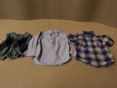 Baby Gap Dress Shirts and Wool Vest Lot of 3 Cotton Nylon Wool Male Kids 3T -- Preowned