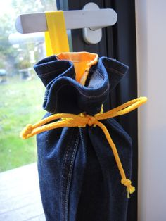NEW Sunny Yellow Yoga mat bag - upcycled recycled jeans with coloured trim -washable drawstring tube with carry strap- OOAK ready to ship by jezdesigns on Etsy https://www.etsy.com/uk/listing/487374157/new-sunny-yellow-yoga-mat-bag-upcycled