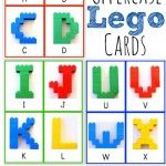 Alphabet Lego Cards: Uppercase....link to all of her free printables