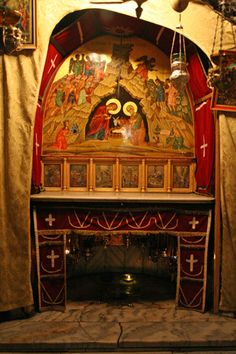 The grotto of the nativity, inside the Church of the Nativity, in Bethlehem, is believed to be the actual birth site of Jesus.