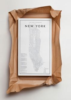love the clean, minimal design on this guide to Manhattan as well as the art direction on this product shot.
