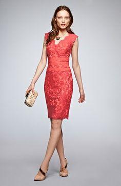 Tadashi Shoji Lace & Tulle Sheath Dress | Nordstrom