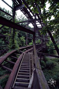 Williams grove park rollercoaster, Pennsylvania. Sadly now closed :(