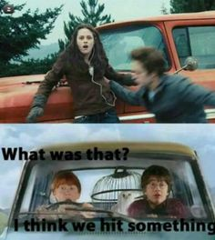 The 'Harry Potter' & 'Twilight' Worlds Collide in This Hilarious Fan Art! | moviepilot.com