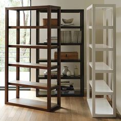 West Elm Parsons Tower-inspired bookcase (pinned image from West Elm--link to plans @ Ana White)