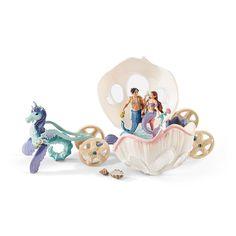 Schleich #41460 Bayala Royal Seashell Carraige Set: Mermaid Princess Isabelle, Merman Aquarius + Unicorn Seahorses. Amazon.com