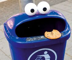 If I were a millionaire, I could buy everyone in my family one of these cookie monster bins.