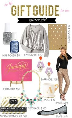 The #Gift Guide for the #Glitter Girl who leaves a little sparkle in her footsteps! // Shop the Post: http://lapetitefashionista.blogspot.com/2013/12/lpf-gift-guide-for-fit-fashionista.html