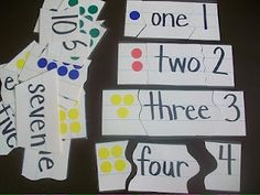 Number Sense Puzzles (picture, word, symbol)