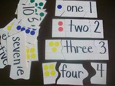 Number Sense Puzzles (picture, word, symbol)
