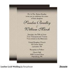 Leather Look Wedding