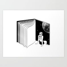 Buy Reading is Dreaming with Your Eyes Open Art Print by Henn Kim. Worldwide shipping available at Society6.com. Just one of millions of high quality products available.
