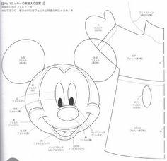 Las chorradikas de Laury: Patrones marionetas o titeres mickye y mini mouse