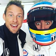 Jenson Button & Fernando Alonso - Have they just heard Lewis say that Nico's a better driver than him?