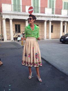 Stylish Italian trend setter Maria Franca Ronconi