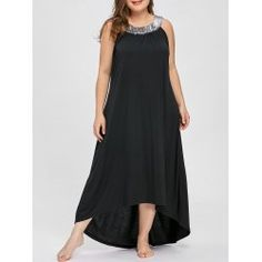 94efa411c127e Buy wholesale sequins collar sleeveless plus size maxi dress 5xl black for   11.02 from China plus
