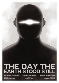 The Day the Earth Stood Still poster by Guillaume Vasseur.  One of the best sci fi films ever.