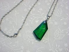 Shop closing soon! All items 60-90% off!  Emerald Green Stellar Pendant Necklace by DysfunctionalAries, now $8.00!