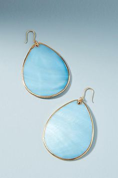 Anthropologie Clearwater Drop Earrings