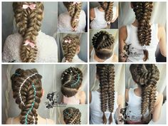 Make braids in the form of eight
