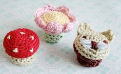 Handmade Knob Covers | AllFreeCrochet.com Easy Crochet Pattern