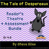 The Tale of Despereaux Reader's Theatre & Assessment BUNDLE: Grades 4-5 -- Save 25% over purchasing each bundle separately! Both resource descriptions are listed below as follows:  The Reader's Theatre resource is a bundle of four scripts, totaling 25 speaking parts, including vocabulary work, vocabulary quizzes and teacher answer keys. This resource includes 36 pages for both student & teacher use.