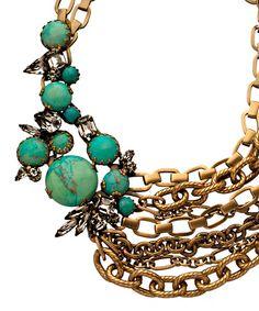 Elizabeth Cole Ava Asymmetrical Accent Multi-Strand Necklace