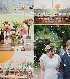A 1000 Paper Cranes and rustic wedding decor   Love My Dress
