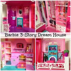 #Barbie 3 Story Dream Dollhouse.  I always wanted a #BarbieMansion like this one!  I was so happy I was able to get one for my daughter.