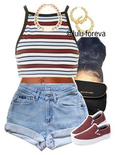 """""""Untitled #1616"""" by lulu-foreva ❤ liked on Polyvore featuring Thalia Sodi, MICHAEL Michael Kors, Motel and Vans"""