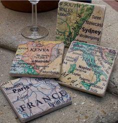destination coasters-- good christmas idea...