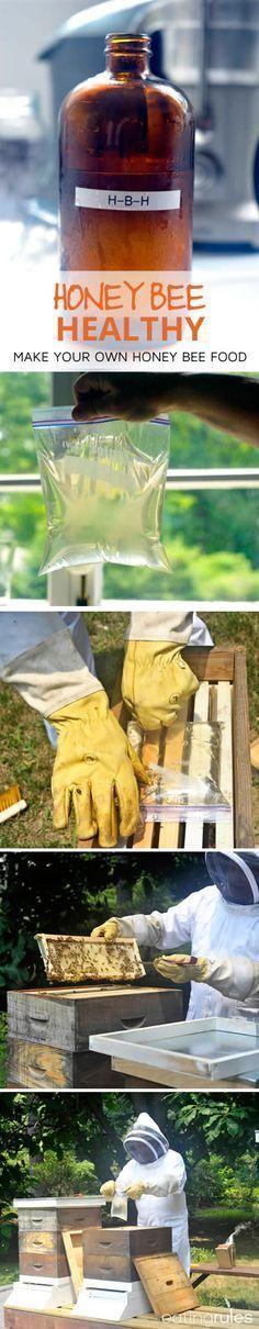 Honey Bee Healthy - Food for Honey Bees! #beekeepingideas