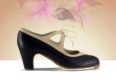 https://www.tamaraflamenco.com/es/zapatos-de-flamenco-profesionales-4 Zapato profesional de flamenco Begoña Cervera Modelo Candor negro y camel
