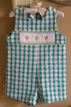 Baby Boy Hand Smocked Short all