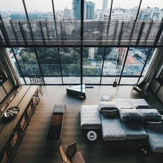 N.B.K. Residence by Bernard Khoury ------- #architecture #design #loft #apartment #architect #interiordesign #interiors #interior #decor  #wood #inspiration #view #interior #designer #realestate #livingroom #villa