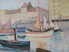 Huile sur toile marine impressionnisme port du nord Bretagne 1909 a Identifier in Art, antiquités, Art du XIXème, et avant, Peintures, émaux | eBay