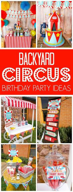 Backyard Carnival Circus Party on Pretty My Party