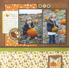 #Fall #scrapbook #layout #scrapbooking