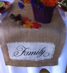 Burlap Table Runner  14 x 108 by CreativePlaces on Etsy, $13.00