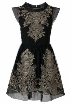Organza Embroidery Black Dress - New Arrivals - Retro, Indie and Unique Fashion I don't usually look good in this style but I think I could work it lol Pretty Outfits, Pretty Dresses, Beautiful Dresses, Beautiful Life, Unique Fashion, Womens Fashion, Fashion Design, Vestido Dress, Lace Dress